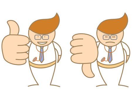 doctor thumbs up down saying like and dislike Stock Vector - 17414715