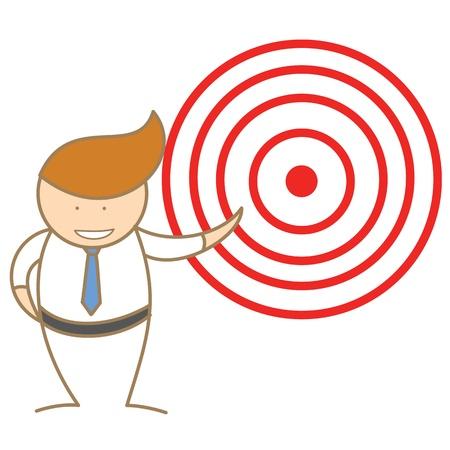 cartoon character of  man announce target Stock Vector - 17414582