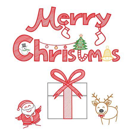 Merry Christmas decoration set Stock Vector - 17414731