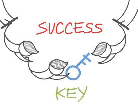 cartoon character of key success circus Stock Vector - 17414643