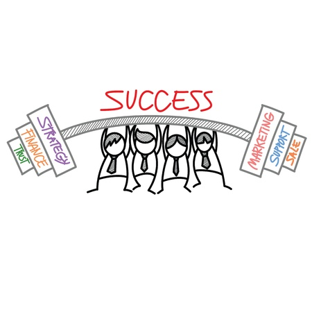 stronger: group lift business task Illustration