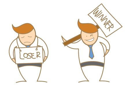 loser: Business man loser winner