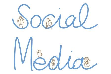cartoon character of social media people Stock Vector - 17502208