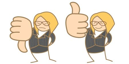 thumbs down: cartoon character of a woman say like unlike