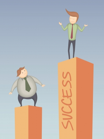 cartoon character of business man success Stock Vector - 18104034