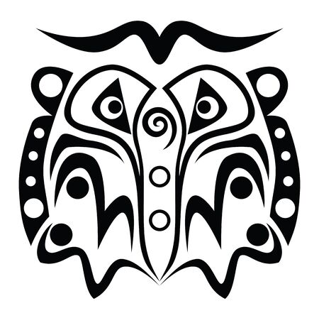 tattoo graphic of face Stock Vector - 18149253
