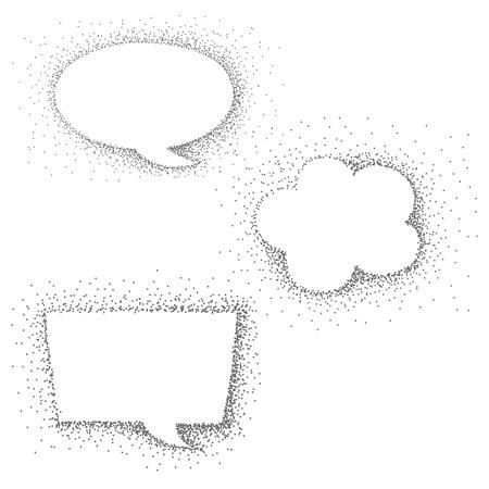 speech bubble dot paint Stock Vector - 18389355