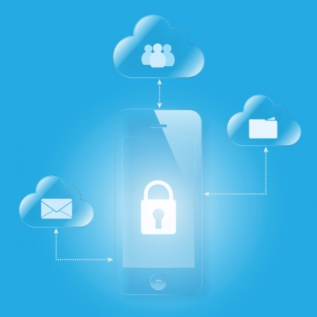 cloud computing mobile security Vector