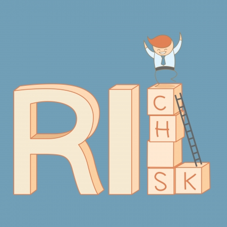 business man climb from risk to rich Stock Vector - 20175324