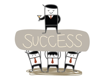 business man team lift boss to success Stock Vector - 21015502