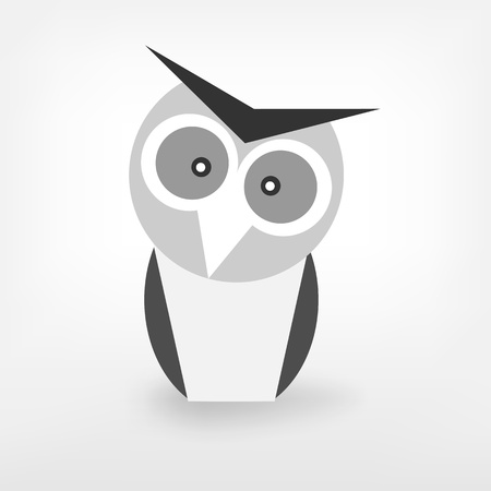 graphic black and white owl Vector