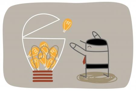 cartoon character of big idea concept