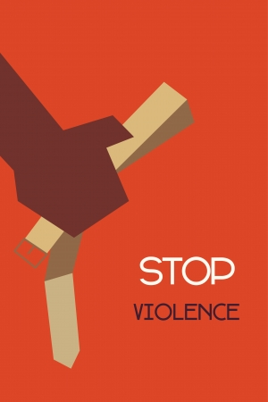 minimal design of stop violence concept Illustration
