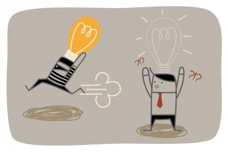 dief steelt zakenman idee concept