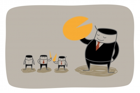 dominance: business man monopoly market share concept Illustration