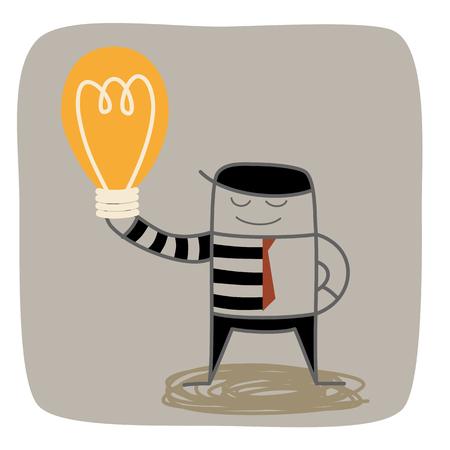 steal brain: half business man half thief steal others idea
