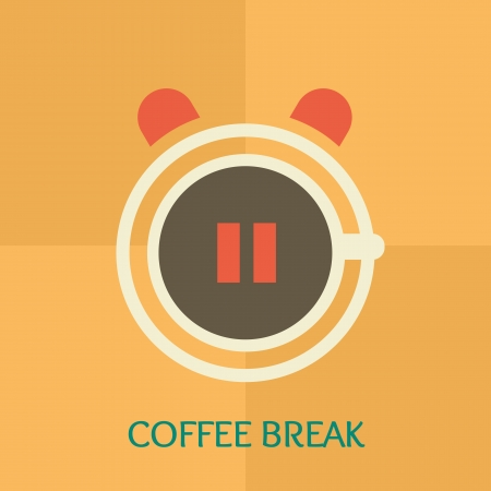 Coffee break time Vector