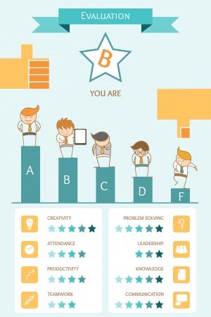 business infographic evaluation concept Illustration