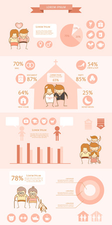 couple love life expense infographic Vector