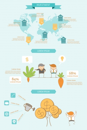 business infographic investment concept Ilustrace