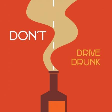don't drive drunk Illustration