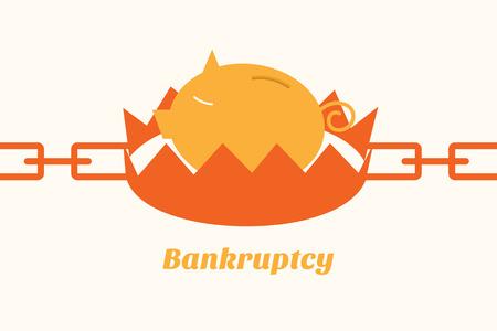 faillite: situation de faillite tirelire sur pi�ge Illustration