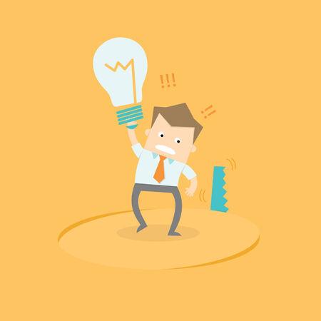 steal brain: business man idea stolen