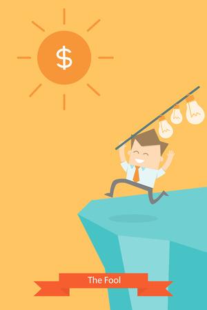 greedy: business man greedy run to money