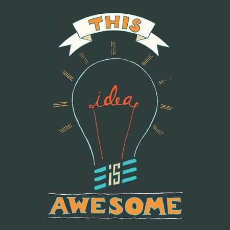creativity concept: Hand Lettering on chalkboard business creativity concept