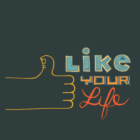 Hand Lettering on chalkboard life inspiration  Vector