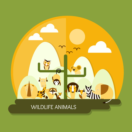 zoo animals: wildlife animals protection and conservation