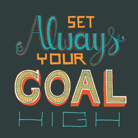 Hand Lettering on chalkboard business goal