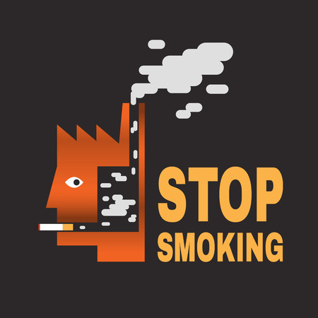 stop smoking Vector
