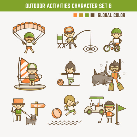 outdoor sport character set