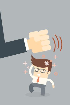boss make crazy, stress concept