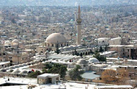 the citadel: Una veduta di Aleppo, in Siria, dalla cittadella