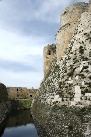 Moat of the Krak des Chevaliers, Syria photo