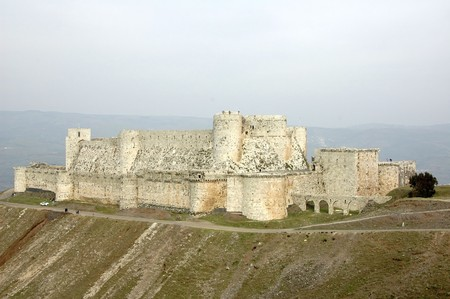crusade: View of the Krak des Chevaliers, Syria