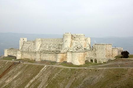 ancient prison: View of the Krak des Chevaliers, Syria