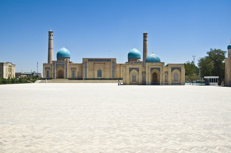uzbekistan: A big square in Tashkent, Uzbekistan
