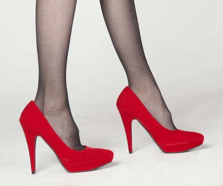 red shoes: Close Up of Red High Heel Shoes  Stock Photo