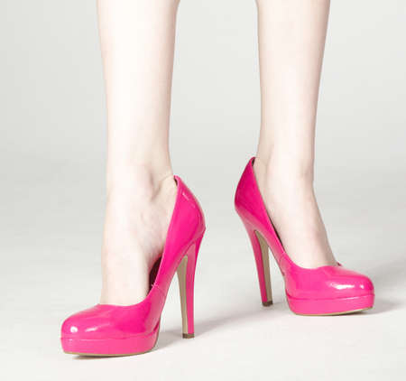 Pink High Heel Shoes photo