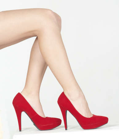 piernas con tacones: Cerca de la Red High Heels