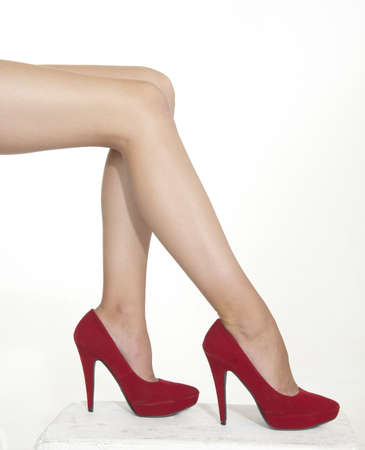 Woman s Legs in Red High Heels photo