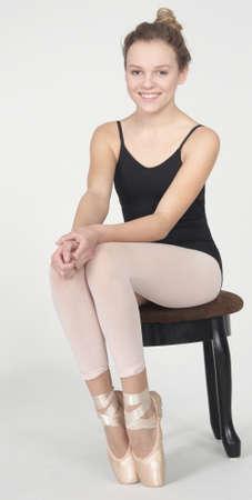 Teen Ballerina in leotard and tights