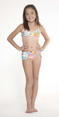 Preteen Girl in Bikini Stock Photo