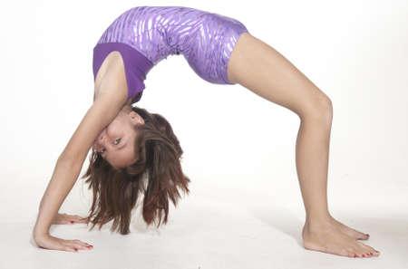 leotard: Girl Bent Over Backwards