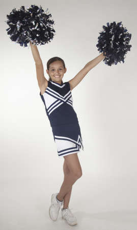 Black teen girl cheerleader photo