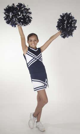 Black teen girl cheerleader