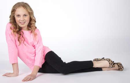Preteen Girl Modeling Fashion